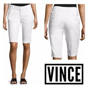 Vince Side Buckle Bermuda Shorts White Size 4